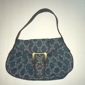 Blue Denim Hobo Bag by Celine